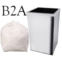 "White Square Bin Liner - 15 x 24 x 24"" - B2A - Case of 1000"