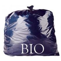 "Black Bio-Degradable Refuse Sacks - 18 x 29 x 39"" - BIO - Case of 200"