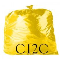 """Yellow Refuse Sack - 18 x 29 x 39"""" - C12C - Case of 200"""