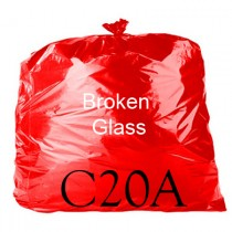 "Red Printed Sack - 18 x 29 x 39"" - C20A - Case of 100"