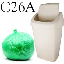 "Green Swing Bin Liner - 13 x 23 x 30"" - C26A - Case of 500"