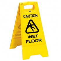 Caution Wet Floor Safety Sign - Single