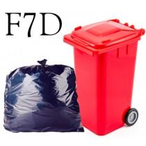 "Black Wheelie Bin Sack - 30 x 46 x 54"" - F7D - Case of 100"