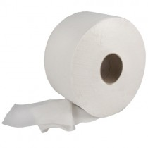 "Jumbo 2-Ply 300m 2.25"" Core Toilet Rolls - Case of 6"
