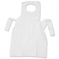 "White Flat Pack Aprons - 27 x 42"" - Case of 1000"