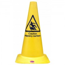 Yellow 'Caution Wet Floor' Cone - Single