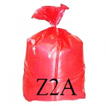 """Red Soluble Strip Sack - 18 x 28 x 38"""" - Z2A - Case of 200"""