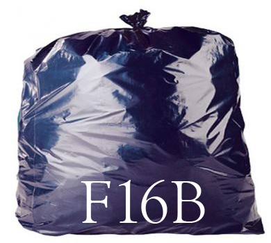 "Black Compactor Sack - 20 x 34 x 47"" - F16B - Case of 100"