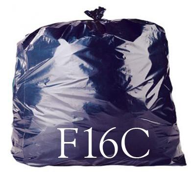 "Black Compactor Sack - 20 x 34 x 45"" - F16C - Case of 100"
