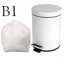 "White Pedal Bin Liner - 11 x 17 x 17"" - B1 - Case of 1000"
