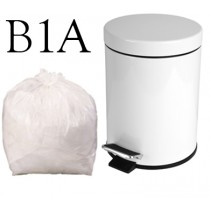 "White Pedal Bin Liner on a Roll - 17 x 17"" - B1A - Case of 1000"