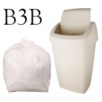 "White Swing Bin Liner on a Roll - 22 x 29"" - B3B - Case of 1000"