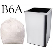 "White Square Bin Liner on a Roll - 24 x 24"" - B6A - Case of 1000"