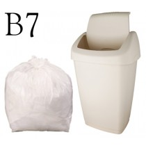 "White Swing Bin Liner 12 x 23 x 30"" - B7 - Case of 500"