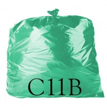 "Green Refuse Sack - 18 x 29 x 39"" - C11B - Case of 200"