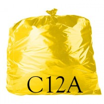 "Yellow Food Quality Refuse Sack - 18 x 29 x 39"" - C12A - Case of 250"