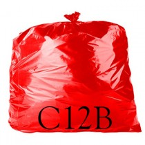 "Red Food Quality Refuse Sack - 18 x 29 x 39"" - C12B - Case of 250"