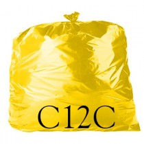 "Yellow Refuse Sack - 18 x 29 x 39"" - C12C - Case of 200"