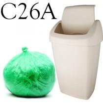 """Green Swing Bin Liner - 13 x 23 x 30"""" - C26A - Case of 500"""