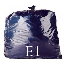 "Black Heavy Duty Refuse Sack - 18 x 29 x 39"" - E1 - Case of 200"