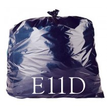 "Black Heavy Duty Refuse Sack - 18 x 29 x 39"" - E11D - Case of 200"