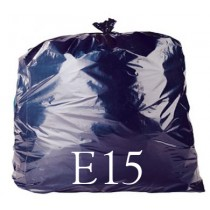 "Black Heavy Duty Refuse Sack - 18 x 29 x 39"" - E15 - Case of 200"