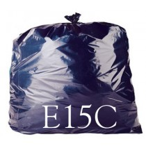 "Black Heavy Duty Refuse Sack - 18 x 29 x 39"" - E15C - Case of 200"