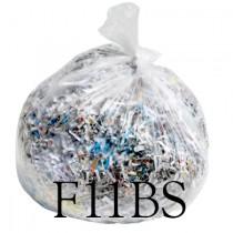 """Clear Shredding Sacks - 30 x 50 x 55"""" - F11BS - Case of 100"""