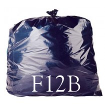 "Black Large Compactor Sack - 22 x 43 x 54"" - F12B - Case of 100"