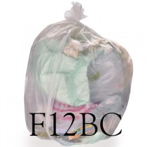 "Clear Large Compactor Sack - 22 x 43 x 54"" - F12BC - Case of 100"