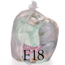 "Clear Compactor Sack - 20 x 34 x 45"" - F18 - Case of 200"