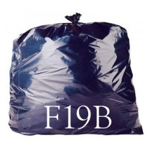 "Black WBK070 Compactor Sack - 20 x 34 x 45"" - F19B - Case of 200"