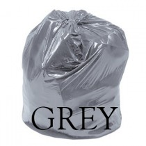 "Grey Refuse Sack - 18 x 32 x 40"" - Case of 200"