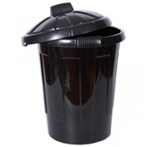 Plastic 80L Dustbin & Cover - Single
