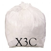 "White Heavy Duty Sack - 21 x 33"" - X3C - Case of 100"