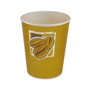 8oz Single Wall Hot Bean Design Cups - Case of 1000